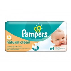Pampers Servetele Naturally Clean  64 bucati