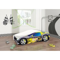 Pat Tineret MyKids Race Car 06 Black-140x70