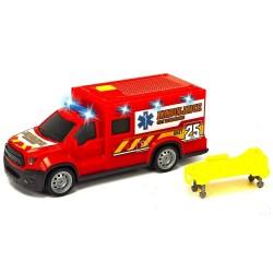 Masina ambulanta Dickie Toys City Ambulance Unit 25 cu accesorii