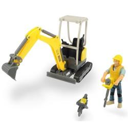 Excavator Dickie Toys Playlife Excavator Set cu figurina si accesorii