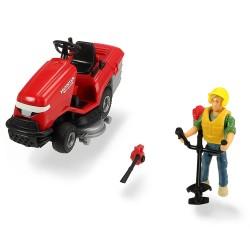 Masina de tuns iarba Dickie Toys Playlife Lawn Mower Set cu figurina si accesorii