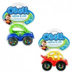 Oball-81510A Prima Masinuta A Bebelusului Rattle&Roll Albastra