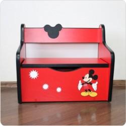 Bancuta lemn Mickey cu spatiu de depozitare