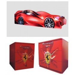 Pachet Ferrari- pat ,comoda +noptiera cadou