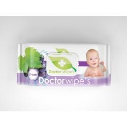 Servetele Umede Copii Doctor Wipes Grapes cu Capac 60 Buc