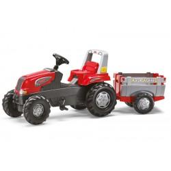 Tractor Cu Pedale Si Remorca Copii ROLLY TOYS 800261 Rosu