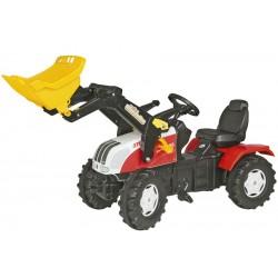 Tractor Cu Pedale Si Copii ROLLY TOYS 046331 Alb Rosu