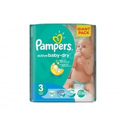 Scutece PAMPERS GIANT PACK 3 ACTIVE BABY Pentru Copii