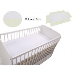 Cearceaf Klups fara elastic Ecru 120x60