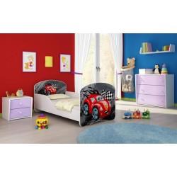 Patut Tineret I MyKids Red Car 5 - 140x70