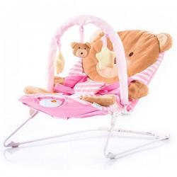 Scaunel balansoar muzical Chipolino Friends pink bear