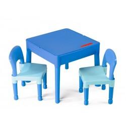 Set masuta cu 2 scaune TEGA Lego Albastru