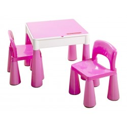 Set masuta cu 2 scaune Tega Mamut Roz