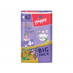 Scutece HAPPY 4 PLUS Maxi Plus (9-20 Kg) 62 BUC